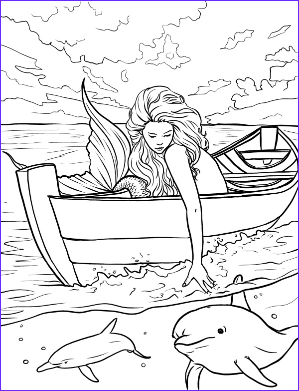 Mythical Mermaids Coloring Book Elegant Photos Mermaid Coloring Pages for Adults