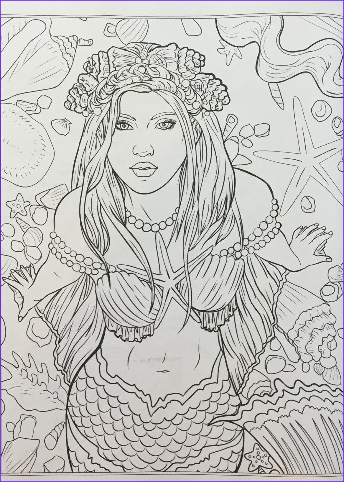 Mythical Mermaids Coloring Book Unique Collection Mythical Mermaids Fantasy Adult Coloring Book Fantasy