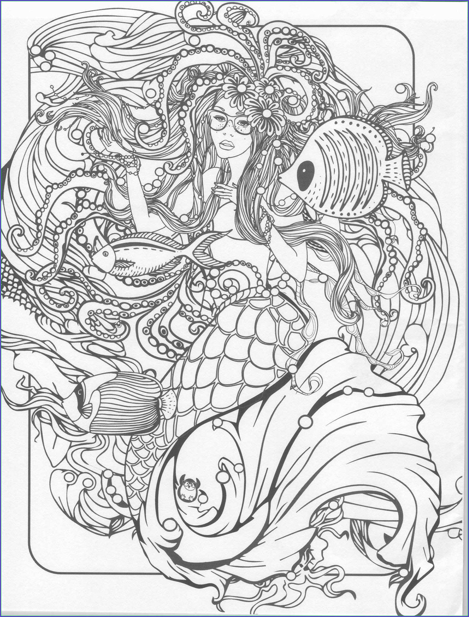 Mythical Mermaids Coloring Book Unique Gallery Mermaids Coloring Book