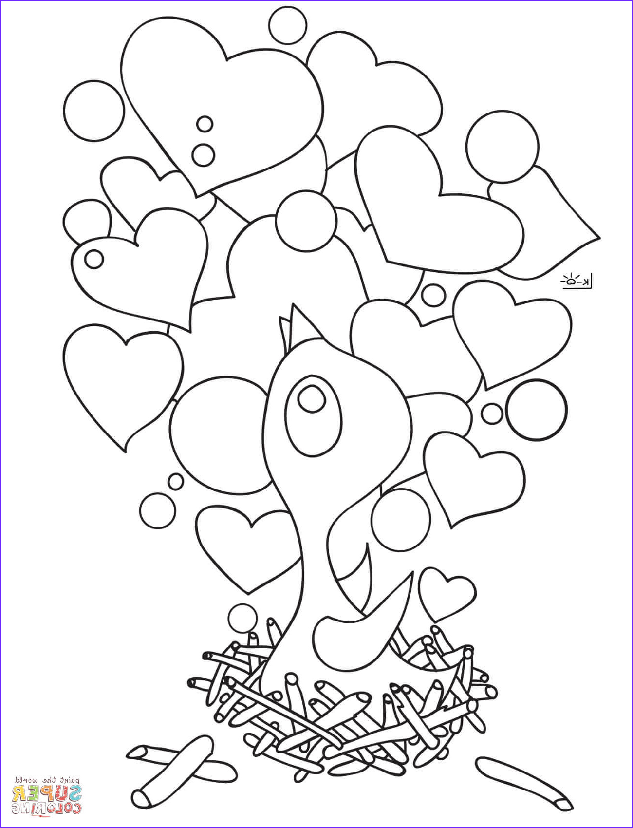 Nest Coloring Page Awesome Stock Chick In the Nest Coloring Page