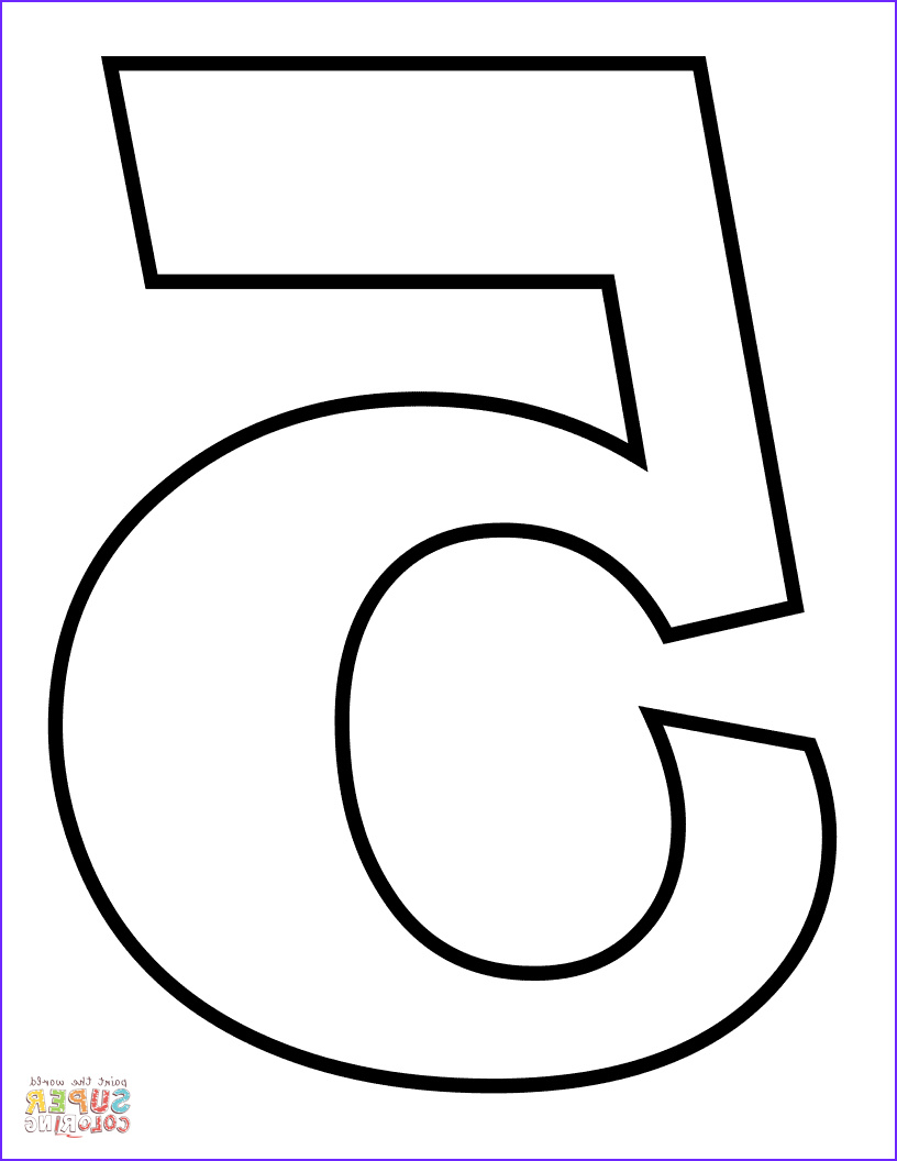 Number 5 Coloring Sheet Inspirational Collection Number 5 Coloring Page