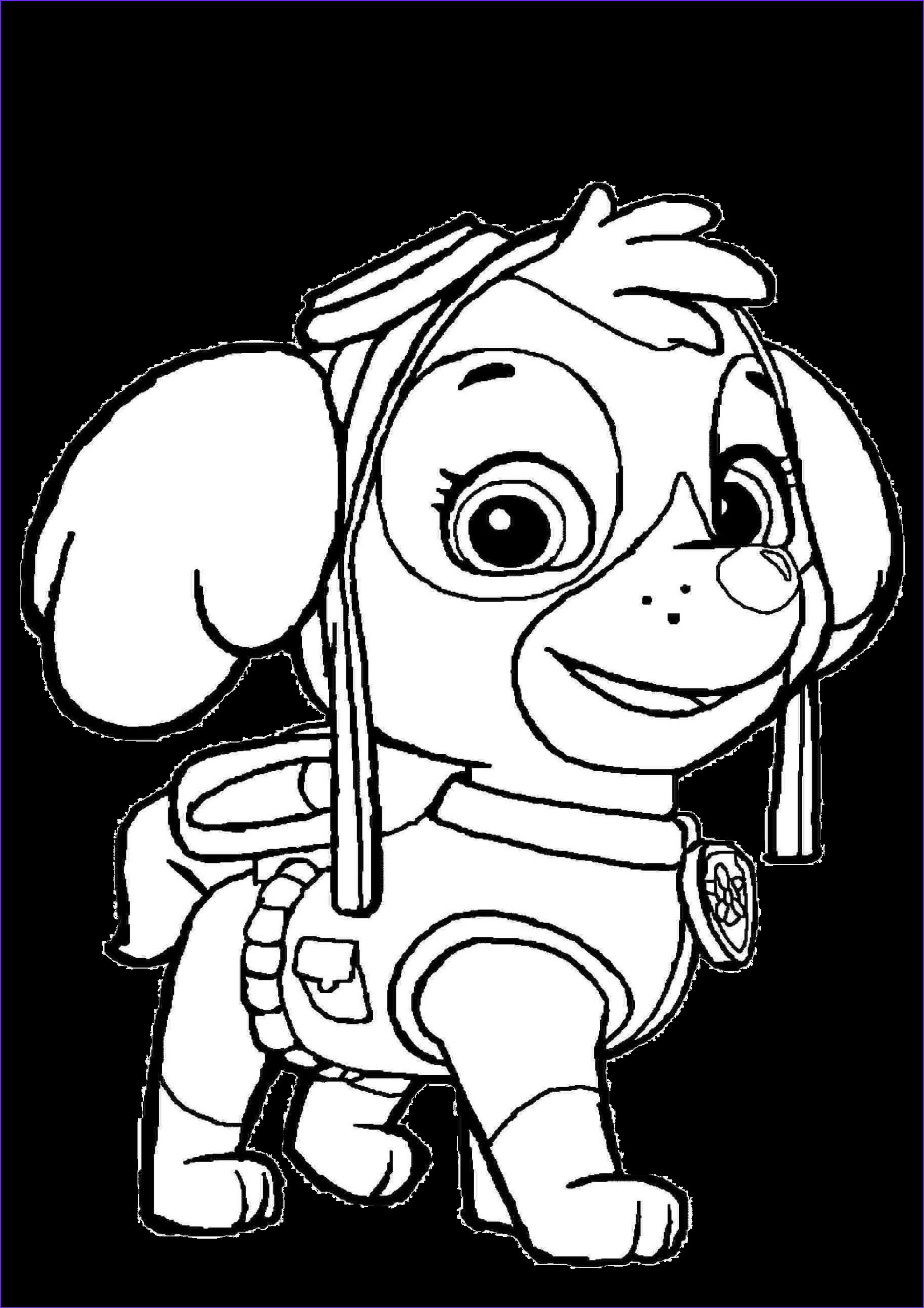 sky paw patrol coloring pages