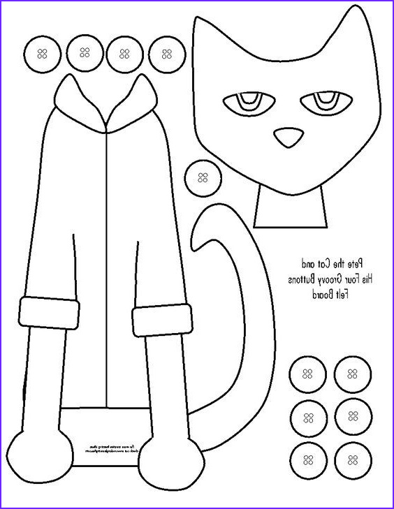Pete the Cat and His Four Groovy buttons Coloring Page Awesome Photos Templates …