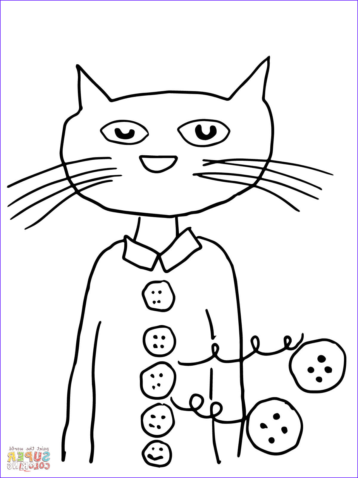 Pete the Cat and His Four Groovy buttons Coloring Page Awesome Stock Pete the Cat Groovy buttons Coloring Page