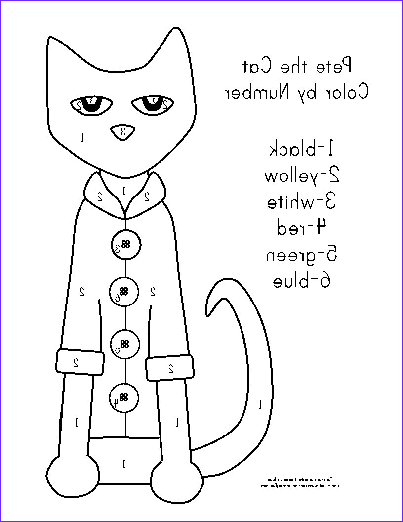 Pete the Cat and His Four Groovy buttons Coloring Page Beautiful Gallery Pete the Cat Coloring Page at Getcolorings