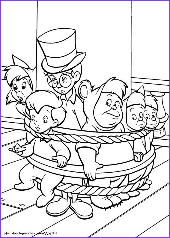coloring pages peter pan