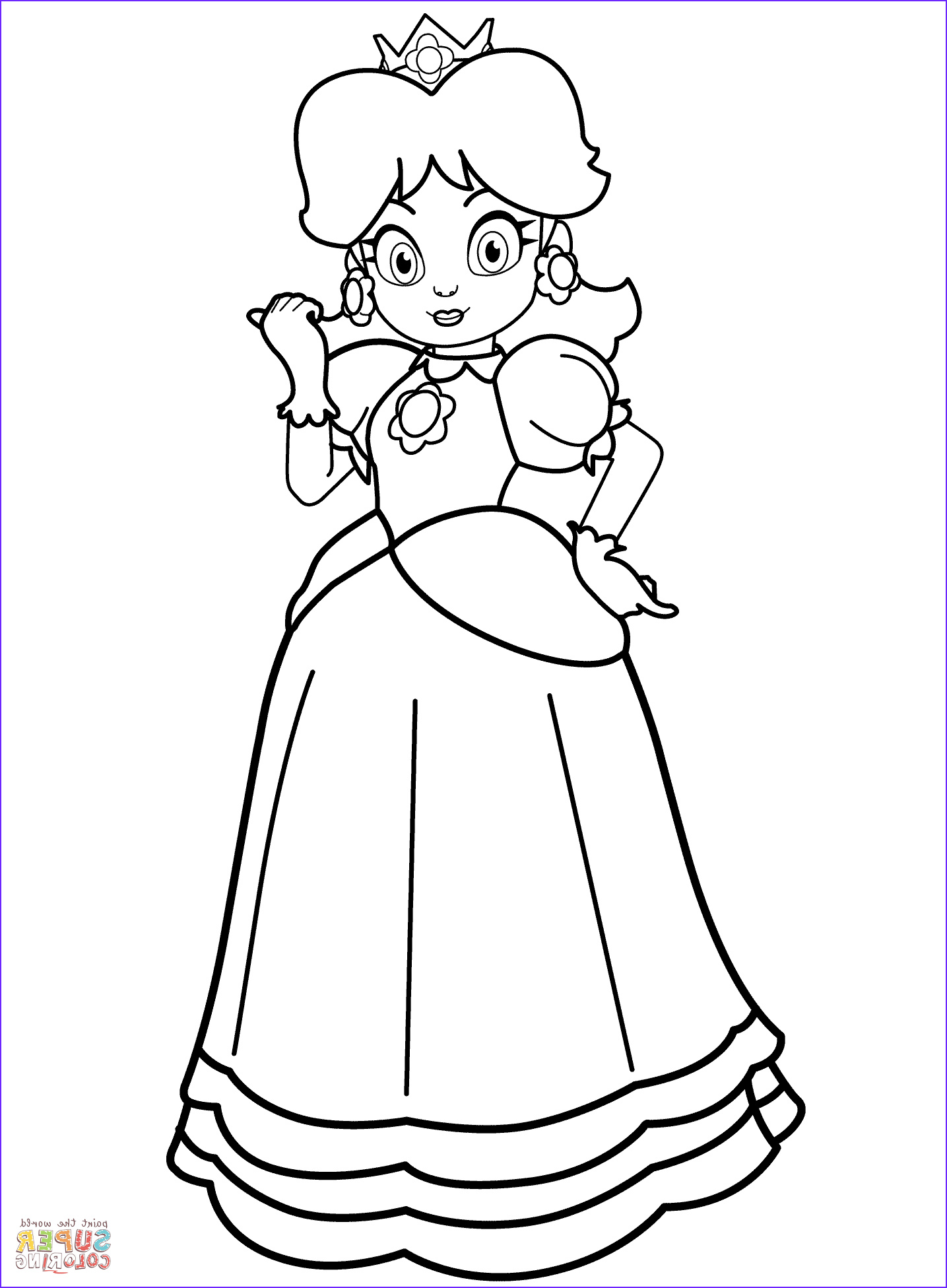 Princess Daisy Coloring Page New Gallery Princess Daisy Coloring Page