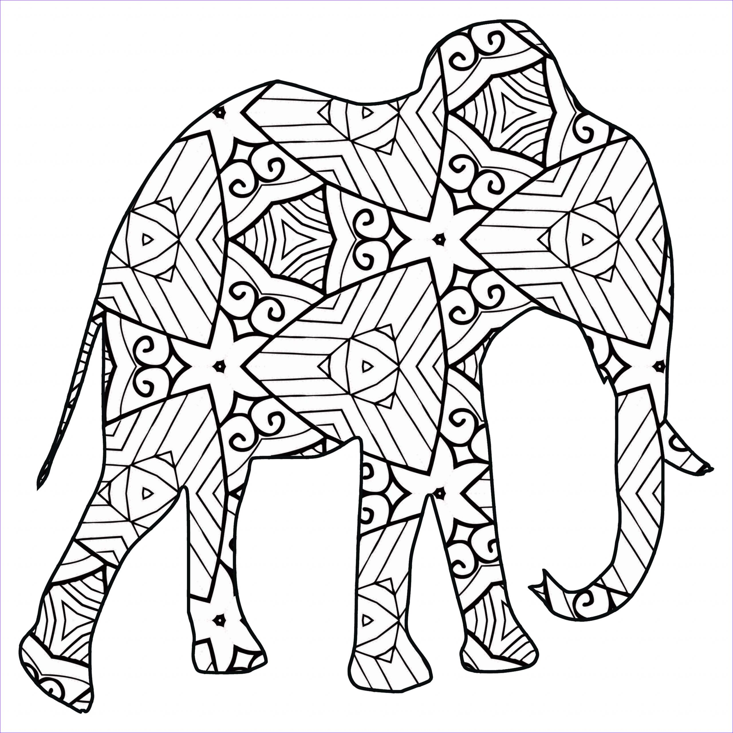 Printable Coloring Page Of Animals Beautiful Photos 30 Free Printable Geometric Animal Coloring Pages