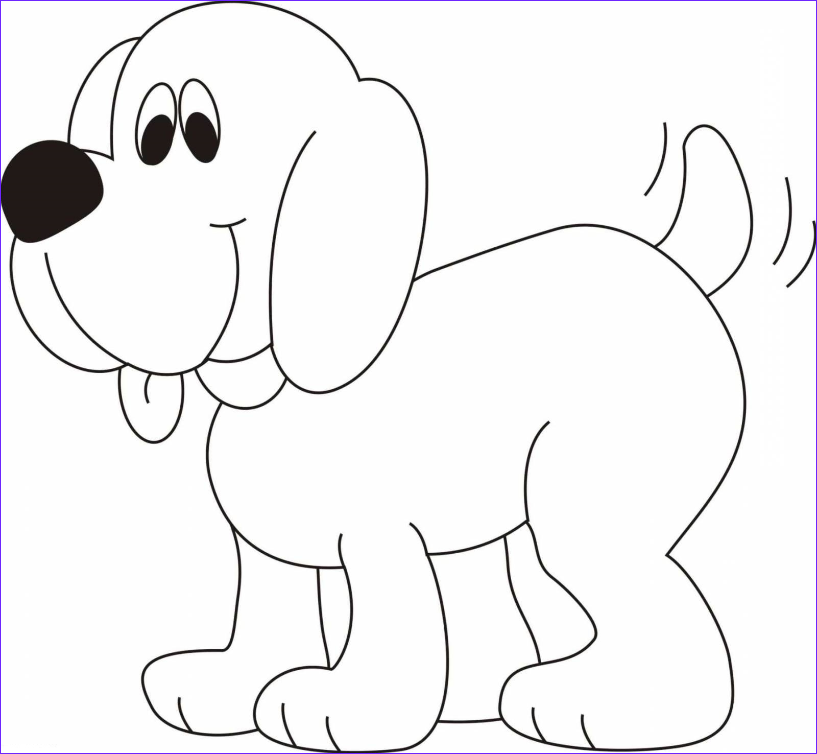 Puppy Coloring Page Cool Stock Dog Coloring Pages for Kids Preschool and Kindergarten