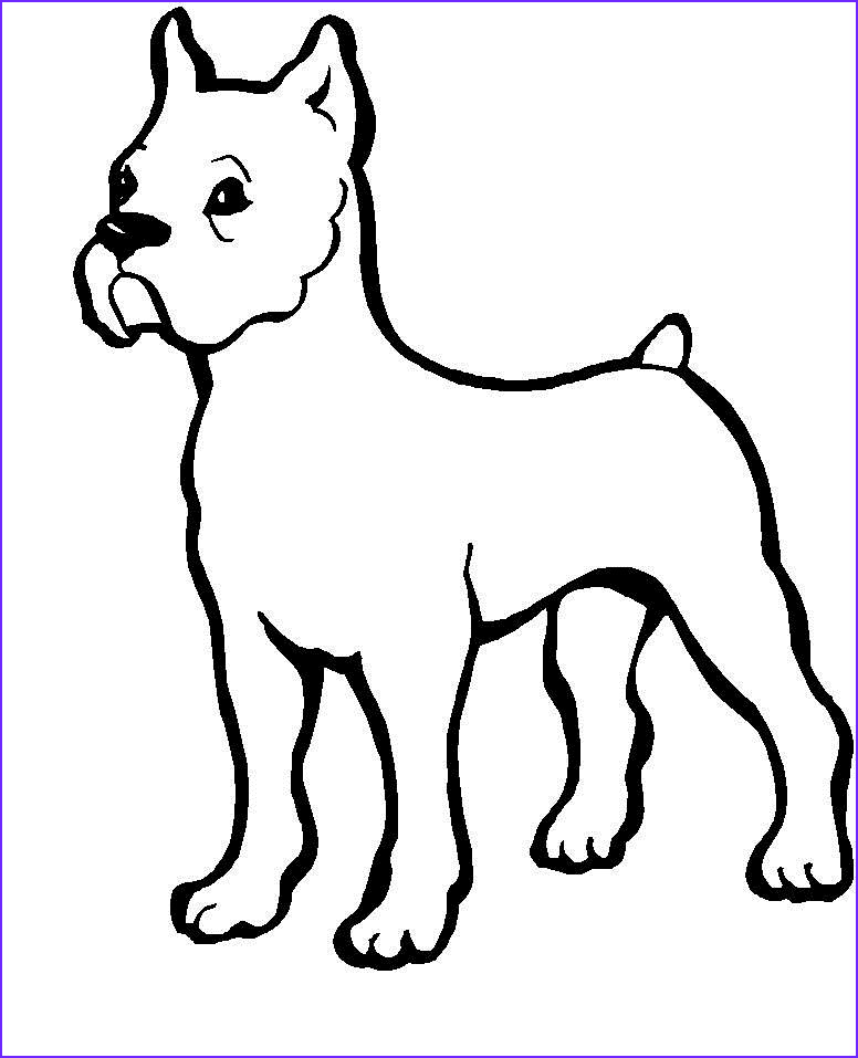 Puppy Coloring Page for Kids Beautiful Stock Cute Puppy Cartoon Cliparts