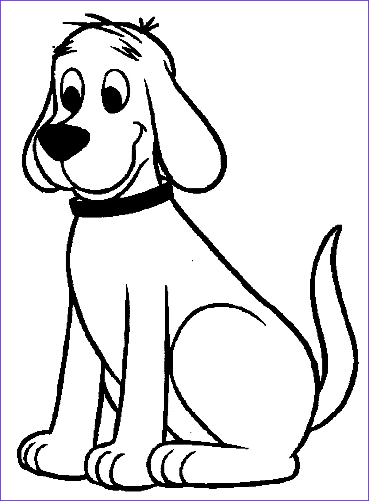Puppy Coloring Picture New Photos Sitting Dog Drawing