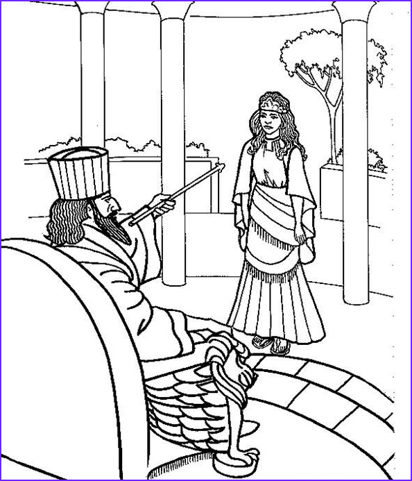Queen Esther Coloring Page Cool Images Coloring Page Of Esther Biblical Holidays