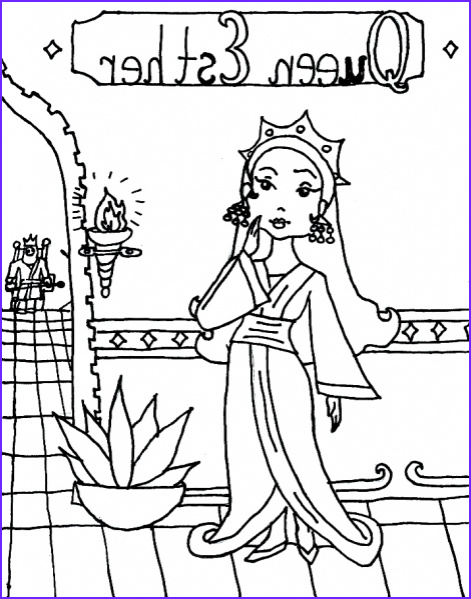 Queen Esther Coloring Page Cool Photos Printable Queen Esther Coloringpage Coloringpagebook
