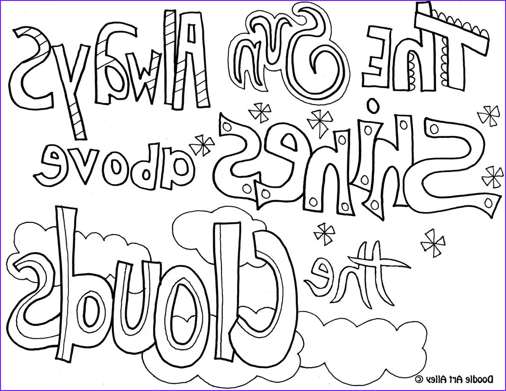 Quote Coloring Sheet Awesome Gallery attitude Quote Coloring Pages Doodle Art Alley