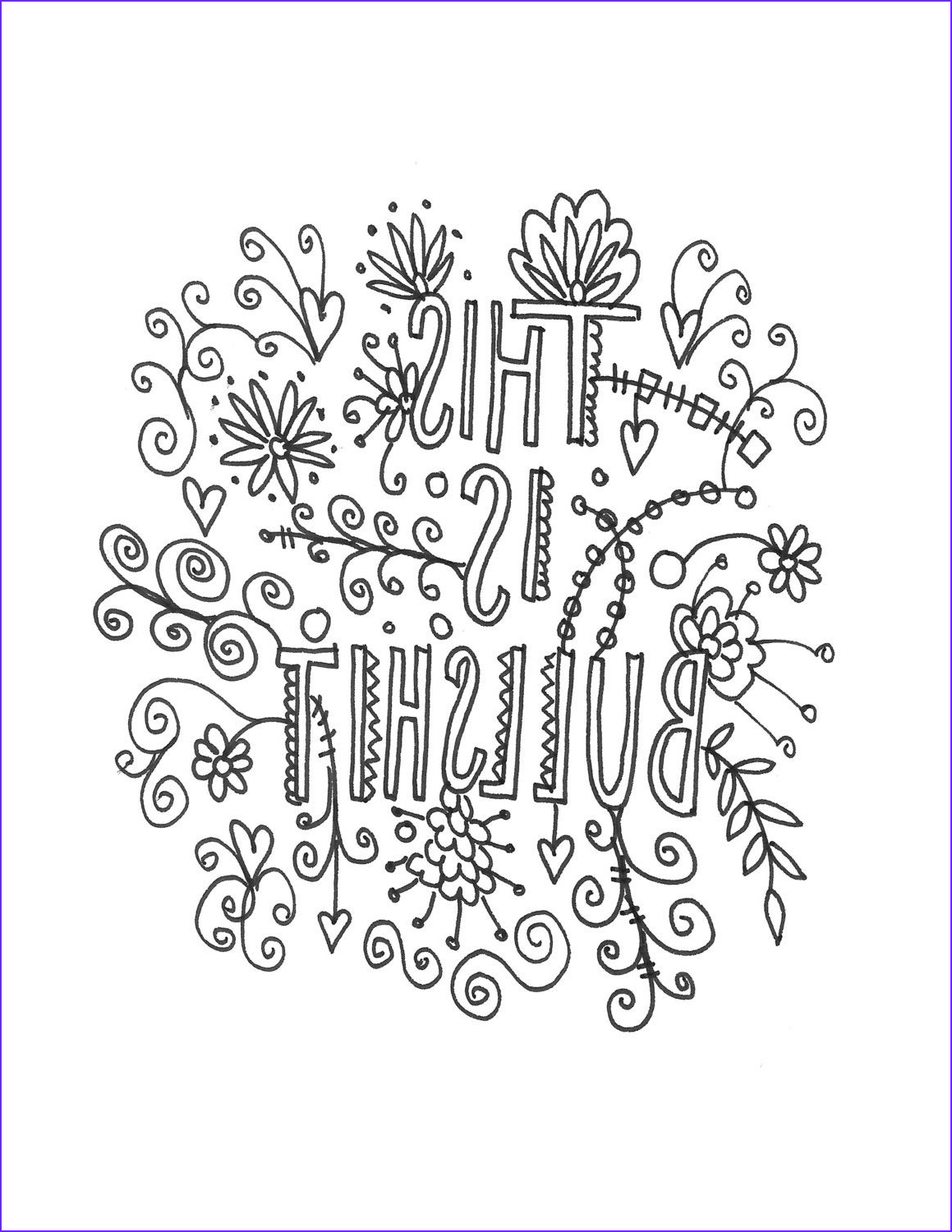 Quote Coloring Sheet Luxury Image Quote Coloring Page Instant Download Line Art Illustration