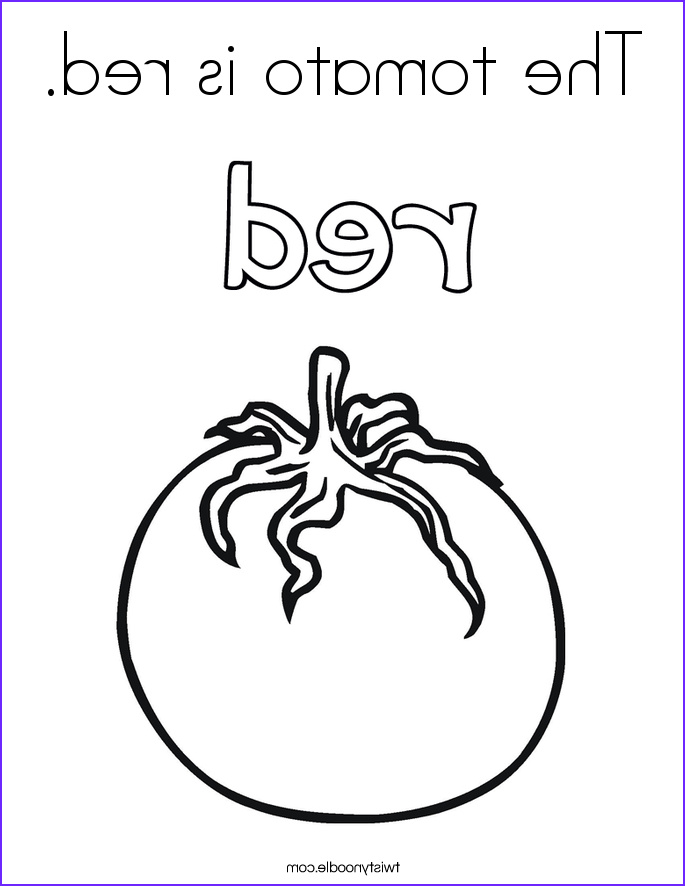 Red Coloring Sheet Elegant Collection the tomato is Red Coloring Page Twisty Noodle
