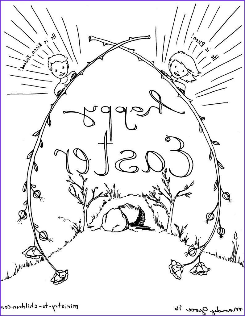 Resurrection Coloring Page for Preschoolers Beautiful Photos Religious Easter Coloring Pages for Preschoolers at