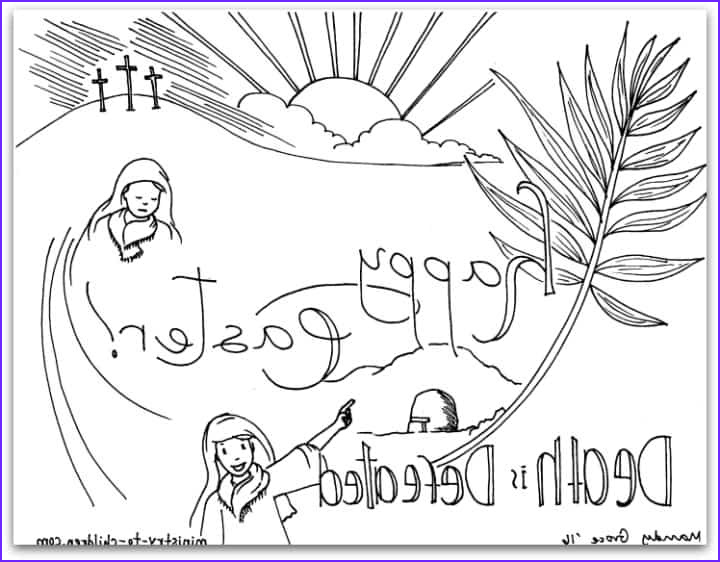 "Resurrection Coloring Page for Preschoolers New Photos ""death is Defeated"" Easter Coloring Page"