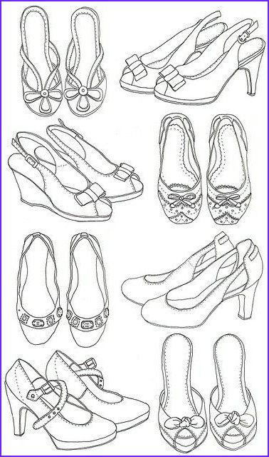 Sandals Coloring Page Cool Photos Pin by M Mido On How to Draw Shoes
