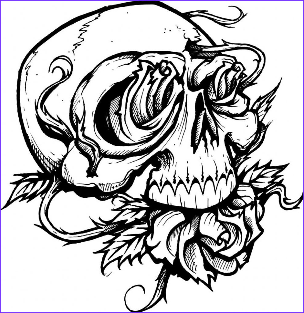 scary coloring pages for kids