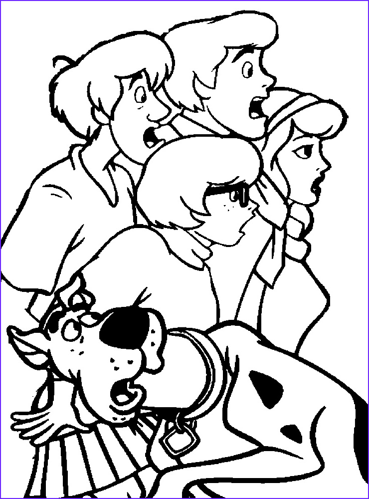 Scobby Doo Coloring Luxury Collection Scooby Doo Coloring Pages for Childrens Printable for Free