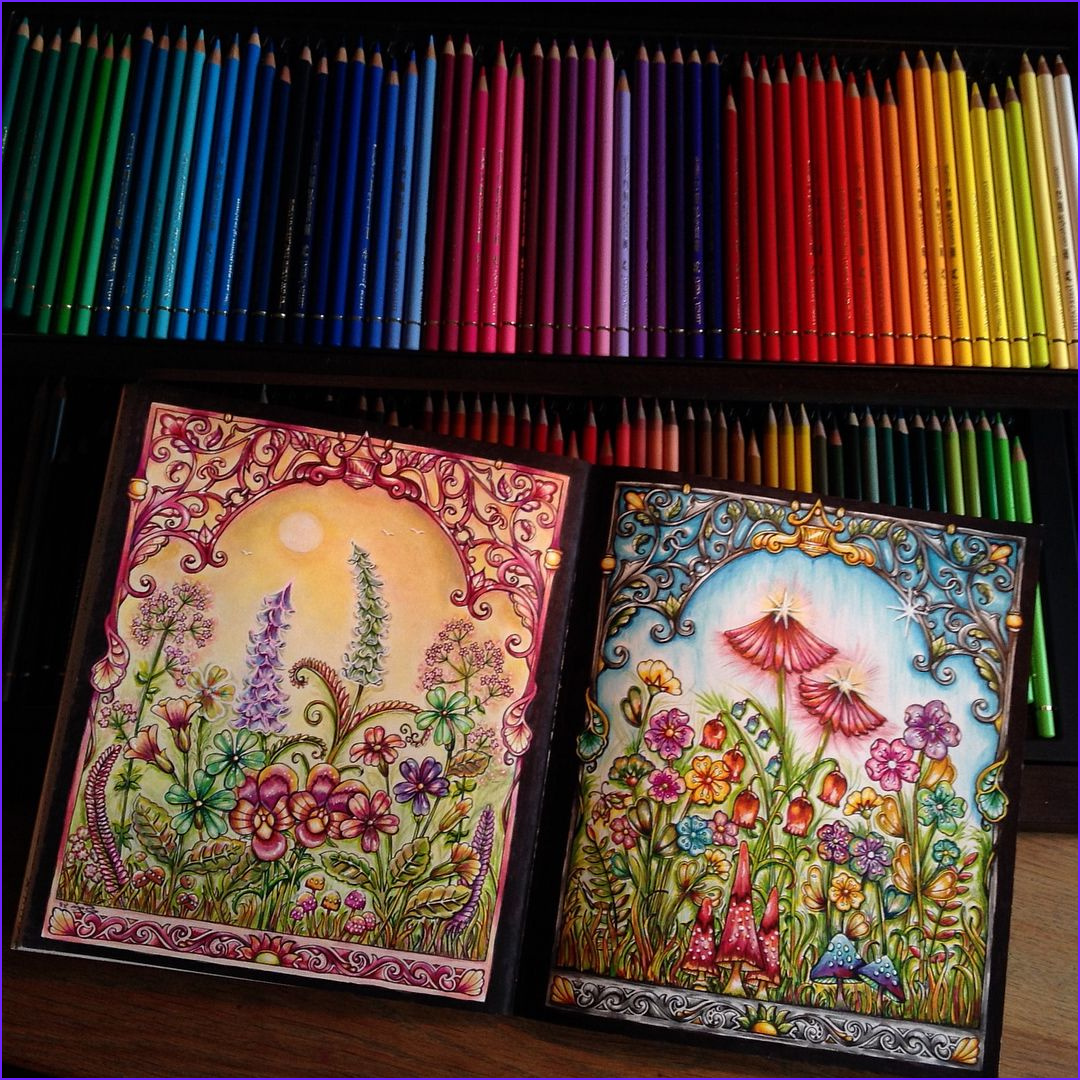 Secret Garden Coloring Page Finished Beautiful Stock Yehhh Finished My Double Page In A Lovely Book From