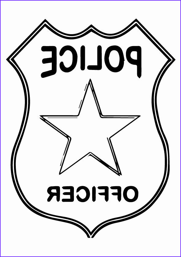 Sheriff Badges Coloring Page Best Of Stock Police Badge Coloring Page Elegant 10 Best Ideas About