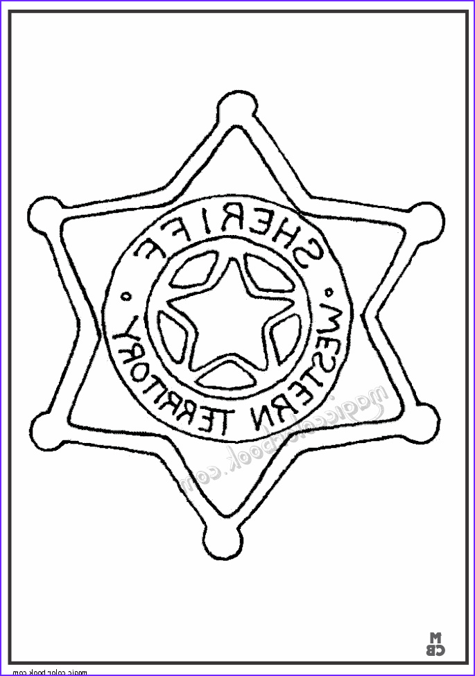 Sheriff Badges Coloring Page Luxury Images Sheriff Star Cowboy Coloring Pages
