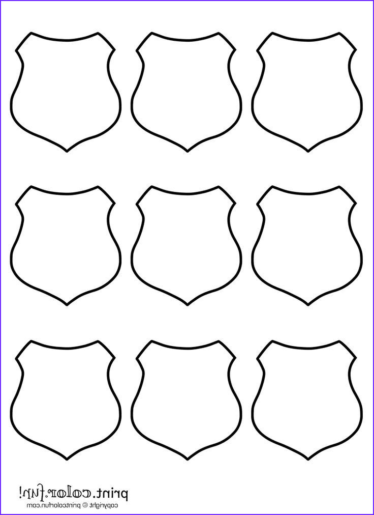 Sheriff Badges Coloring Page Luxury Photos 9 Blank Shields