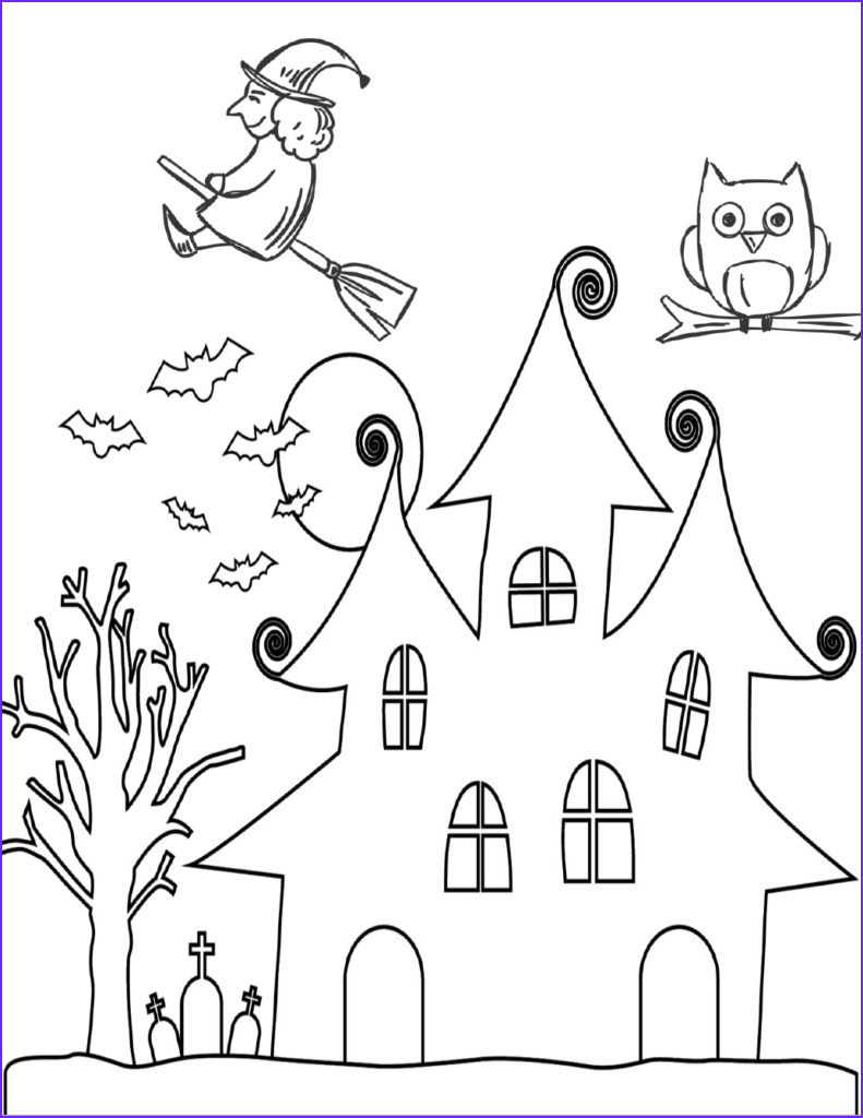 Simple Halloween Coloring Page Best Of Images Free Halloween Printables