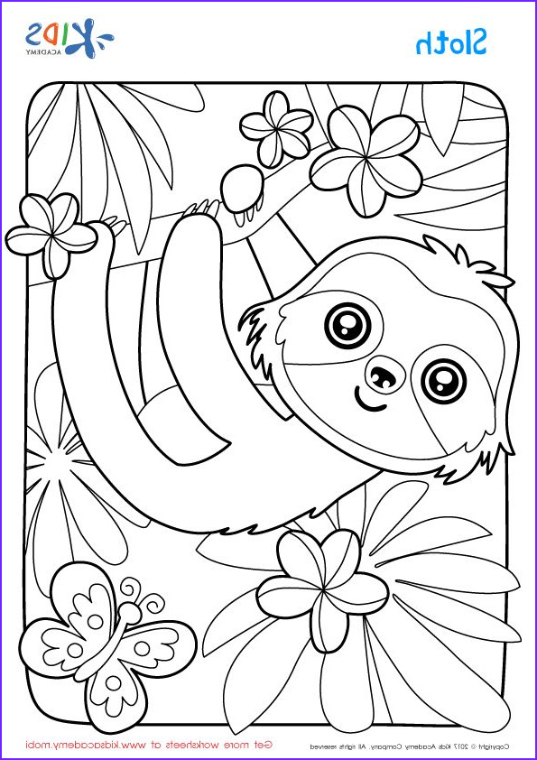 Sloth Coloring Book Cool Photos Sloth Coloring Page