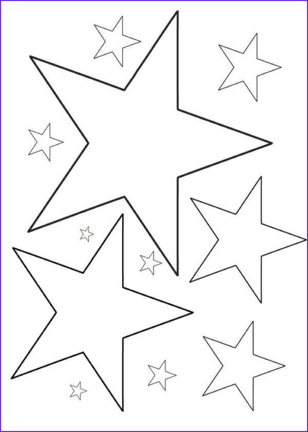 star coloring page