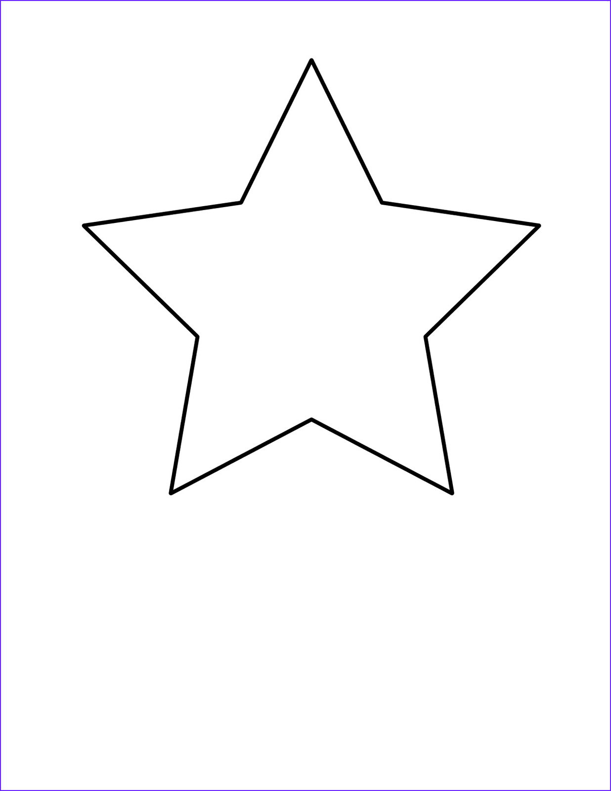 Star Coloring Pic Beautiful Photos Simple Activities Shapes