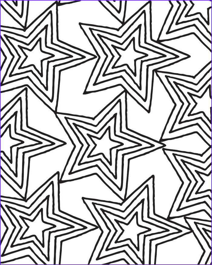 Star Coloring Pic Best Of Stock Printable Star Pattern Coloring Page For Adults And Kids