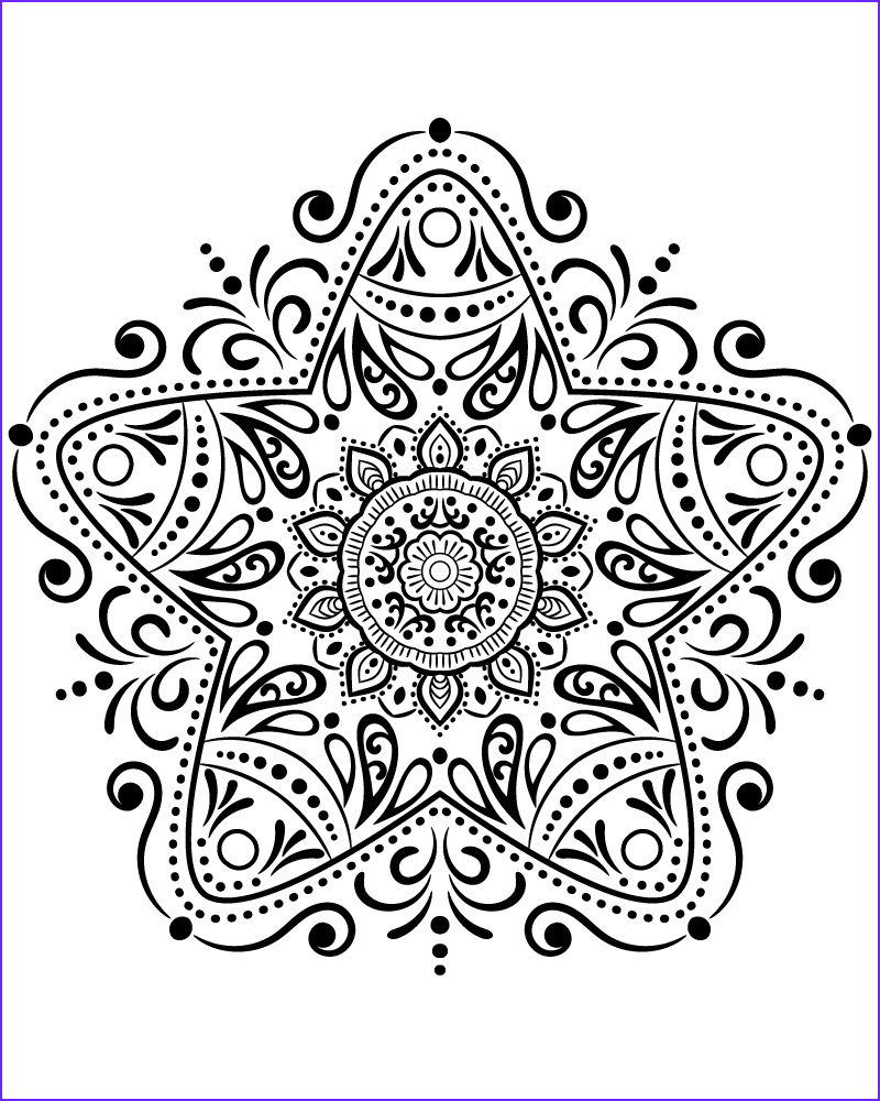 star m13 coloring page