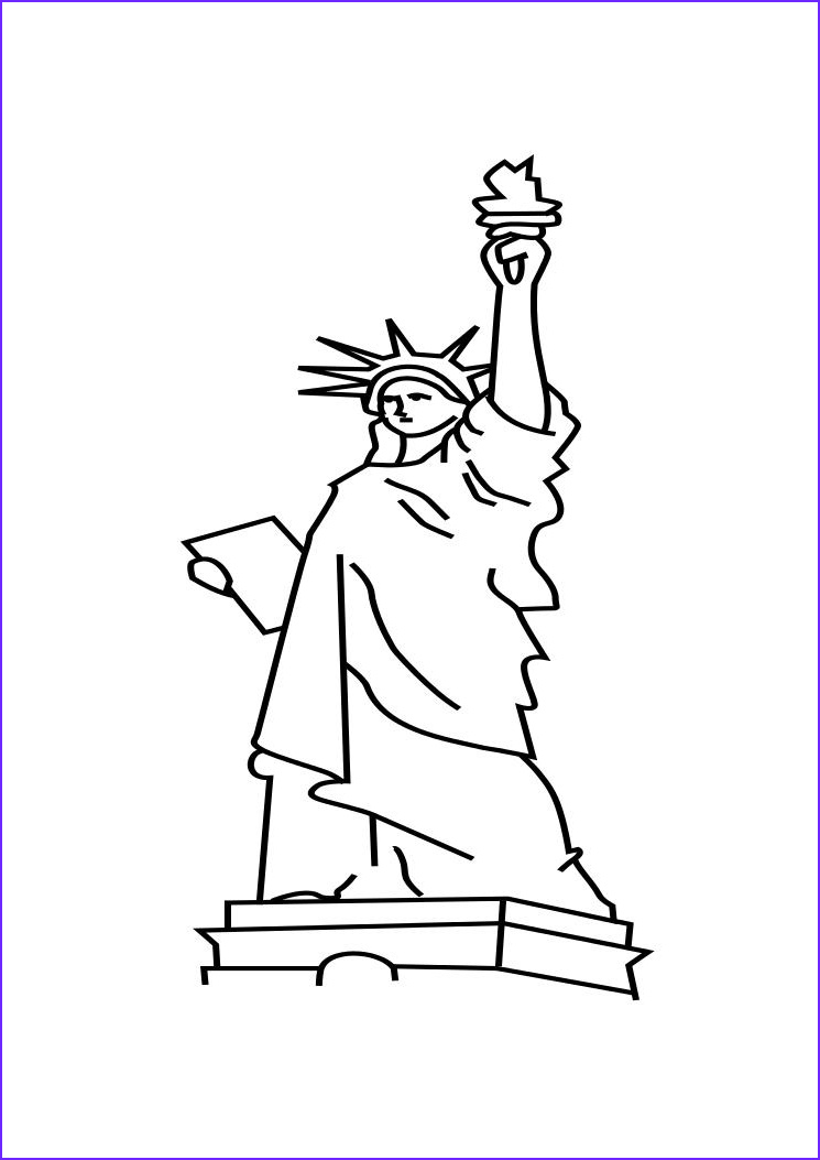 Statue Of Liberty Coloring Page Beautiful Gallery Free Printable Statue Of Liberty Coloring Pages for Kids