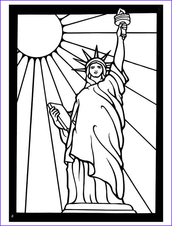 Statue Of Liberty Coloring Page Cool Photos Line Drawing Statue Liberty at Getdrawings