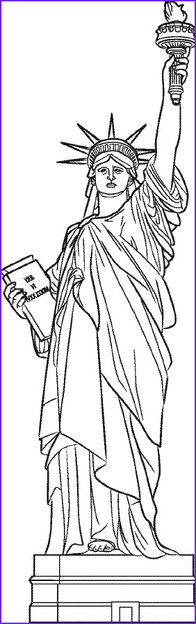Statue Of Liberty Coloring Page Elegant Image Cicero Kids