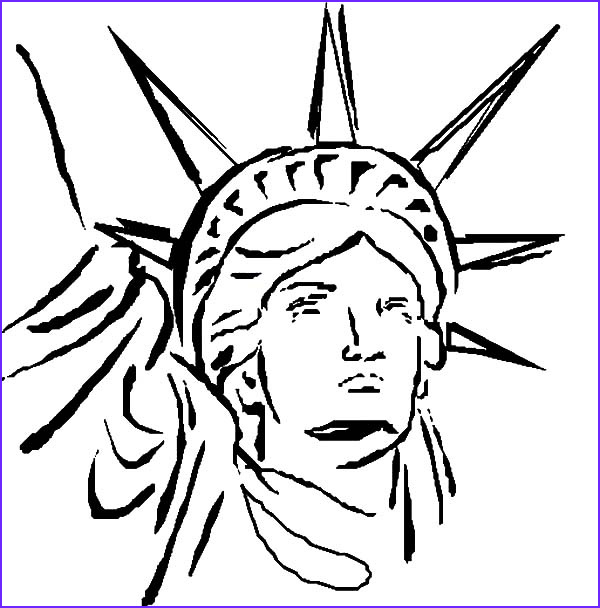 Statue Of Liberty Coloring Page Elegant Photos Statue Liberty Head Coloring Page Download & Print