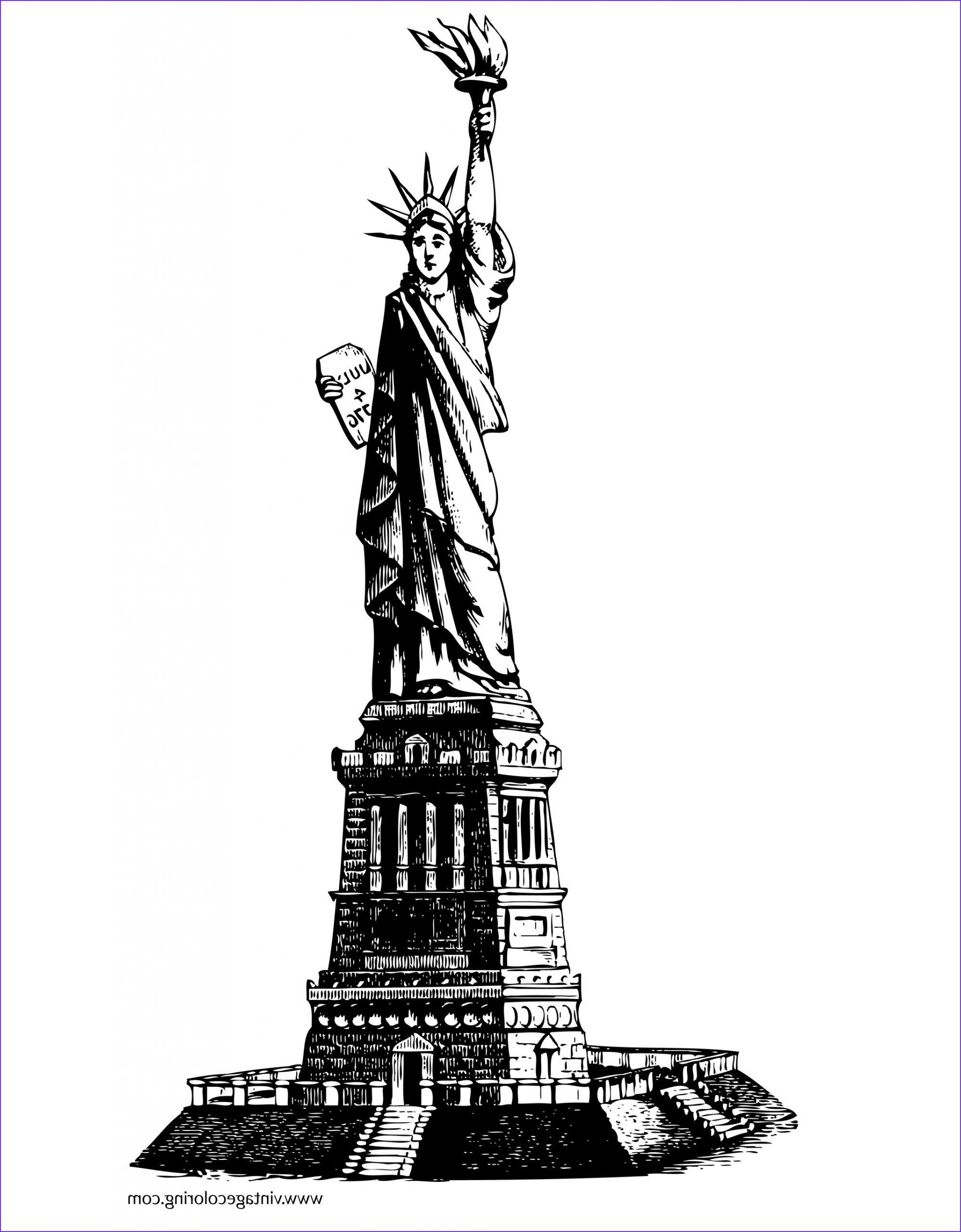 Statue Of Liberty Coloring Page Unique Photos Statue Of Liberty A Free Coloring Page
