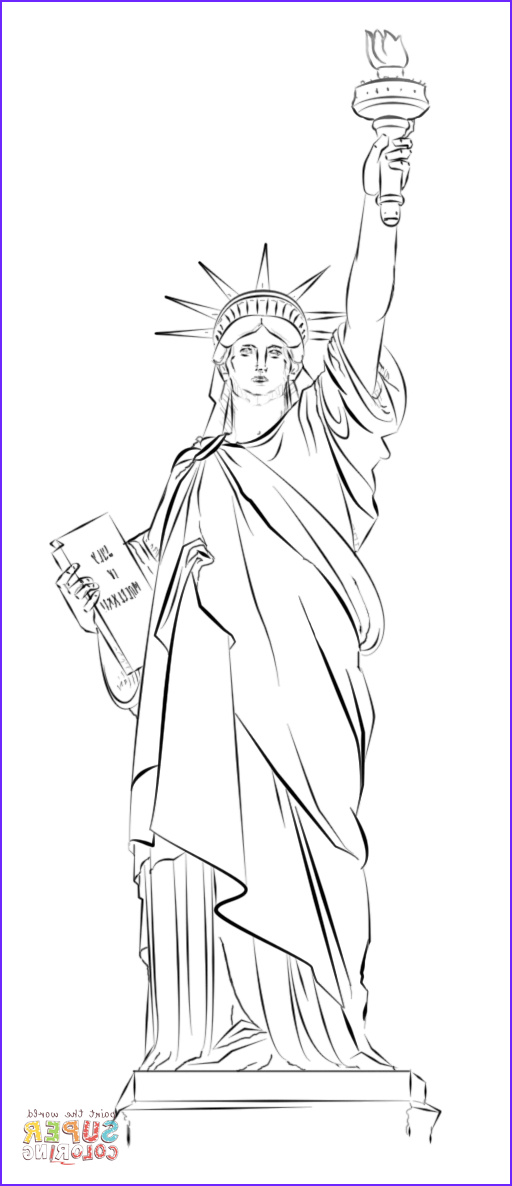 Statue Of Liberty Coloring Page Unique Photos Statue Of Liberty In New York Coloring Page