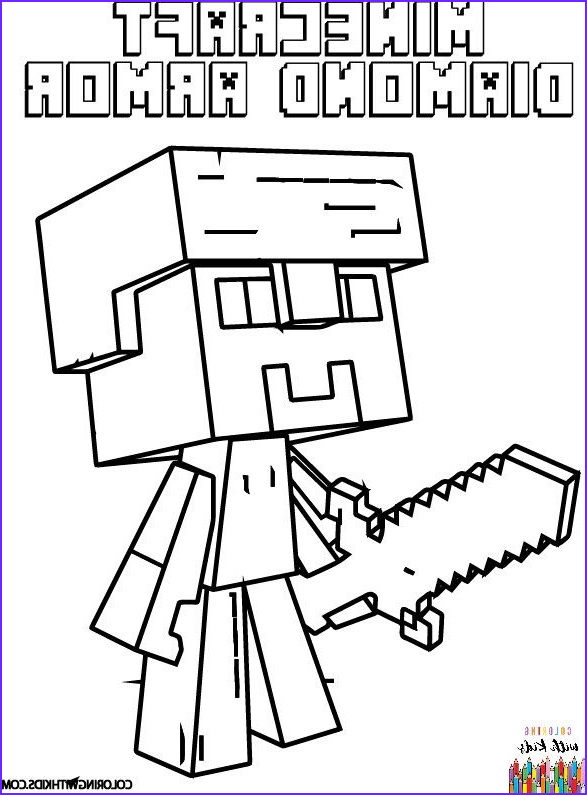 Steve Minecraft Coloring Page Inspirational Gallery Minecraft Steve Diamond Armor Coloring Page Author
