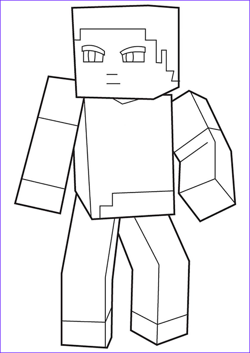 Steve Minecraft Coloring Page Luxury Photos Steve Skin High Quality Free Coloring From The Category