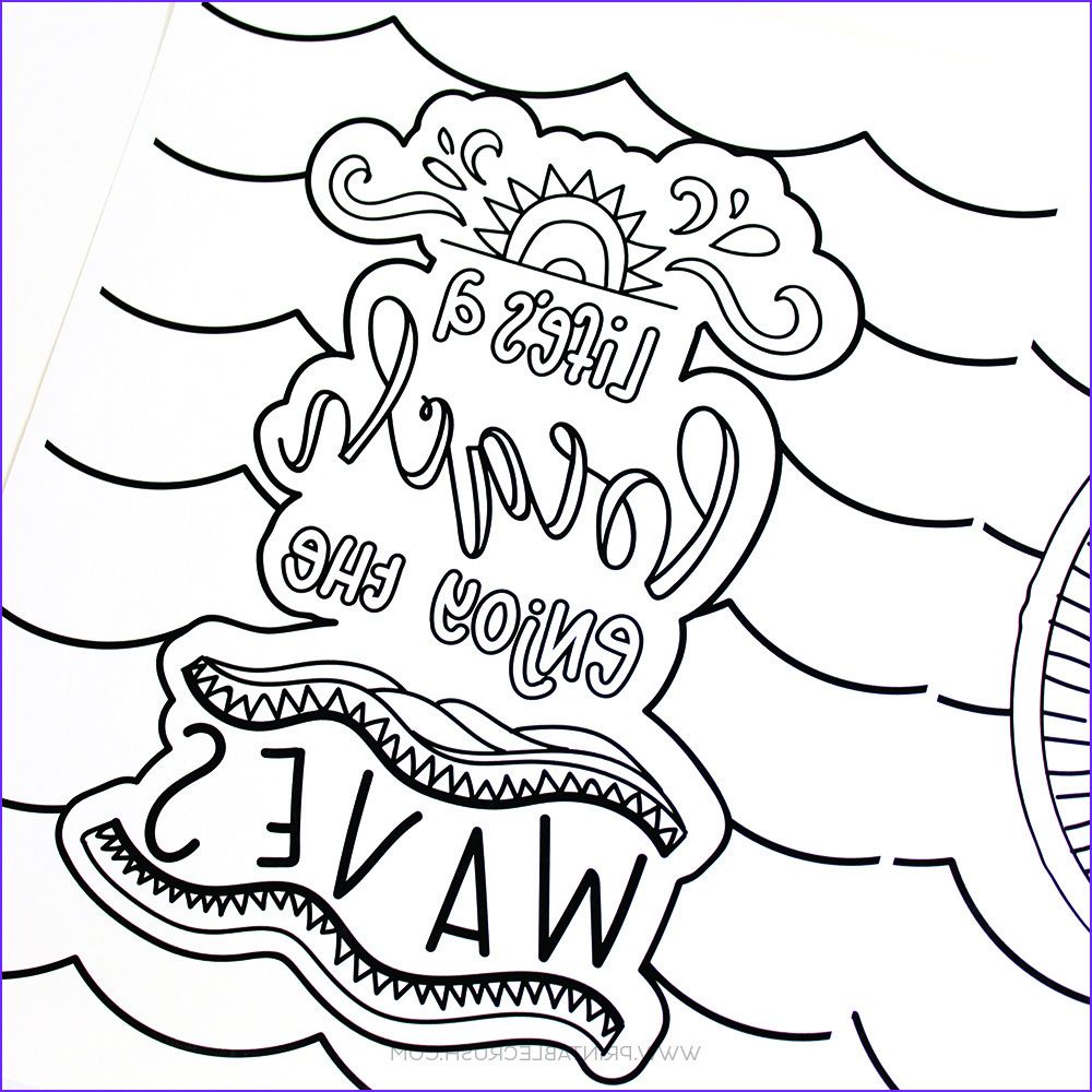 Sumer Coloring Page New Gallery Hand Lettered Summer Coloring Pages Printable Crush