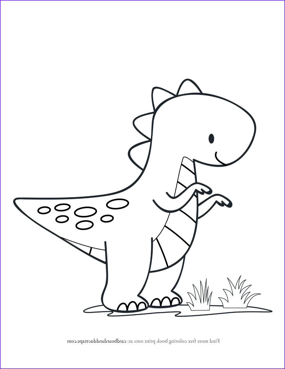 T Rex Coloring Page Elegant Stock T Rex Coloring Page — Cardboard And Duct Tape