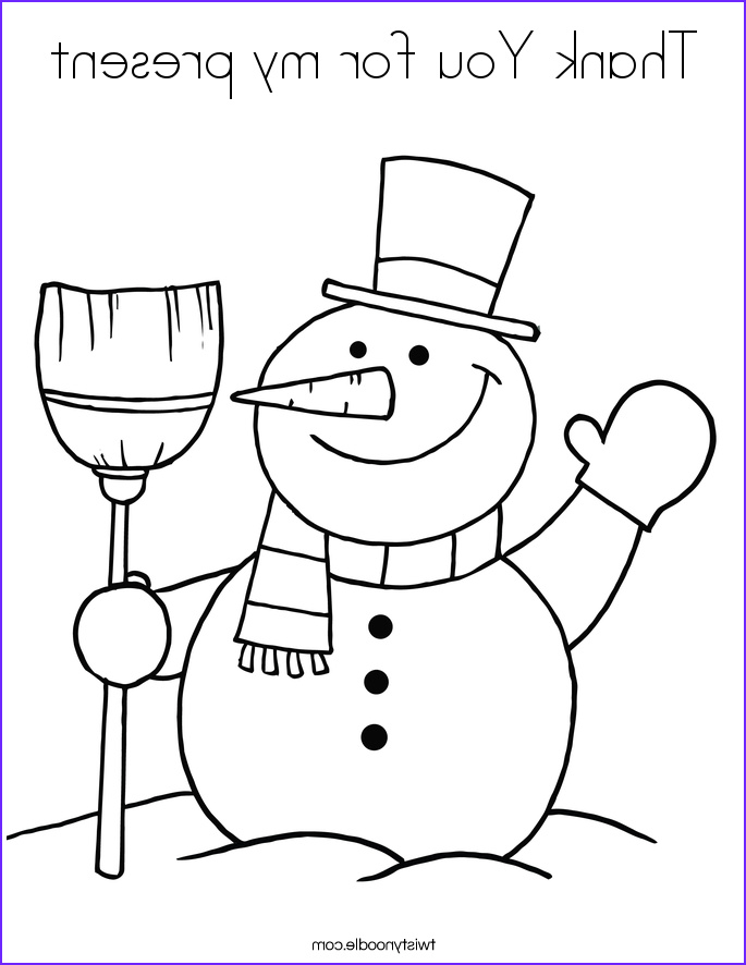 thank you for my present 2 coloring page