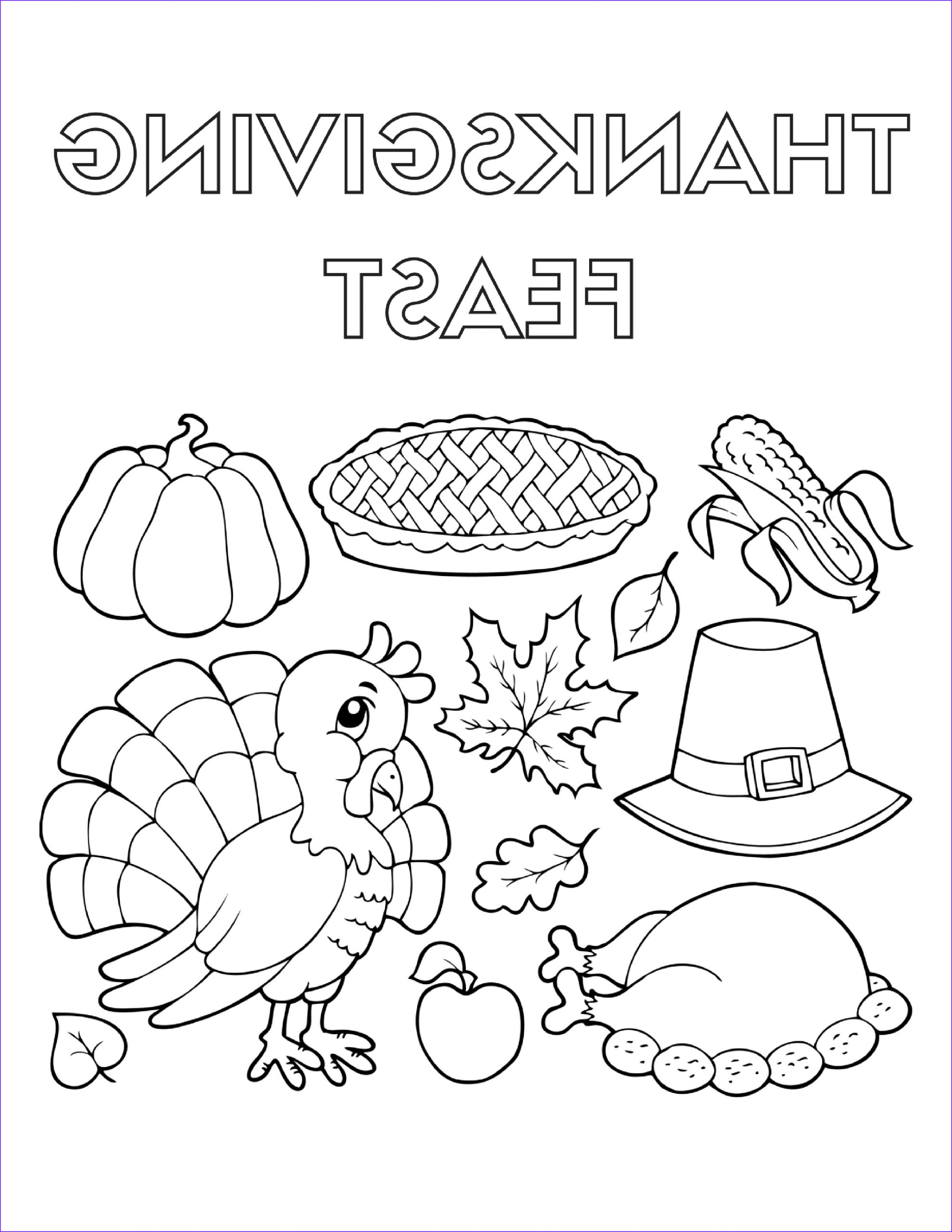 Thanksgiving Coloring Page to Print Awesome Photos Thanksgiving Food Coloring Pages at Getcolorings