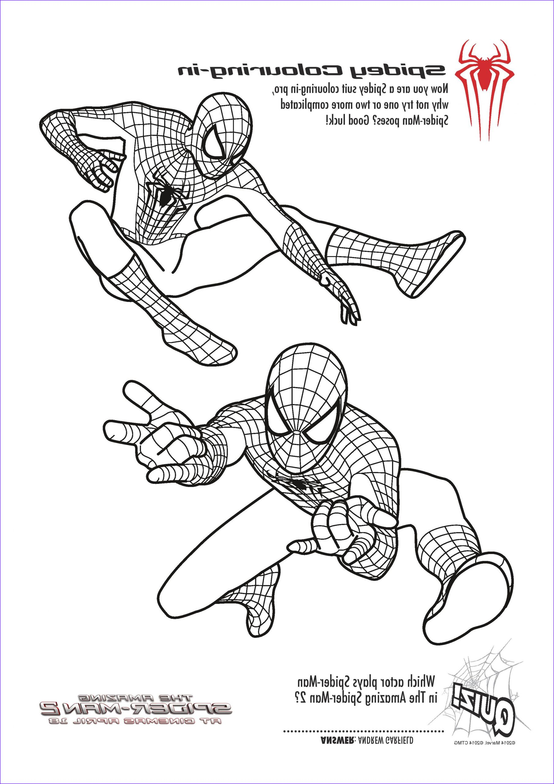 The Amazing Spider Man Coloring Page Unique Stock Free Printable Spiderman Colouring Pages and Activity