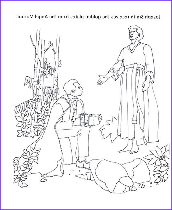 The Angel Visits Joseph Coloring Page Elegant Photos Angel Moroni Give Joseph Smith the Golden Plates Coloring