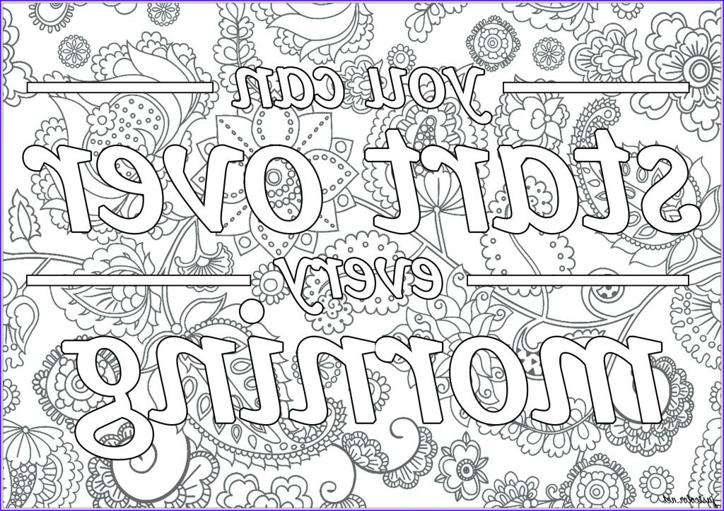 The Best Adult Coloring Book Inspirational Stock Get This Printable Adult Coloring Pages Quotes Start Over